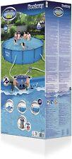Bestway 56595 Steel Pro Piscina Fuori Terra Rotonda, 427 X 84 cm, Pompa inclusa