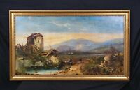 Huge 19th Century View Of Toledo Spain Landscape Richard Parkes BONINGTON