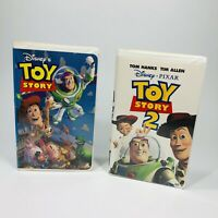 Disney Pixar Lot of 2 VHS Toy Story 1 & Toy Story 2 Clamshell (Free Ship)