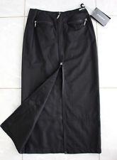 AIRFIELD Falda De Dama 34XS falda Maxi Mezcla De Algodón Negro Cremallera