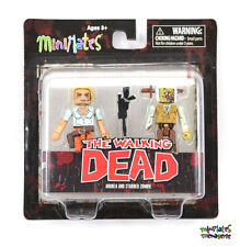 Walking Dead Minimates Series 2 Stabbed Zombie & Andrea