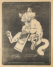 DENTIFRICE GIBBS LES ANIMAUX LE CHAT JACQUES NAM ILLUSTRATEUR PUBLICITE 1917