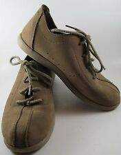 CROCS Men 7 Suede VENTURE casual shoes BROWN lace-up REMOVABLE Insoles NICE
