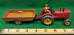 Dinky Massey Harris Tractor & Halesowen Trailer No's 27a & 320.