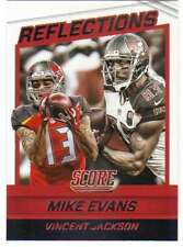 2016 Panini Score Football Reflections Insert #20 Mike Evans/Vincent Jackson