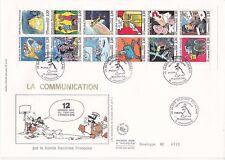Enveloppe grand format 1er jour 1988 La Communication par La bande dessinée