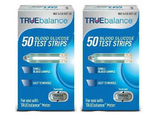 TRUEbalance Diabetic Blood Glucose Test Strips, 2 x 50ct Box