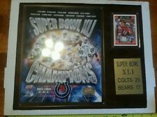 Peyton Manning all pro super bowl wooden plaque new in box colts bears champions