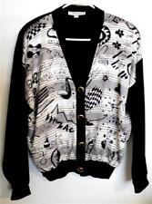 St. John~Button Front Cardigan Sweater ~Size M~Designed by Steven Meisel~NWOT