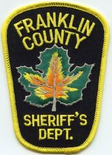 FRANKLIN COUNTY VERMONT VT Maple Leaf SHERIFF POLICE PATCH