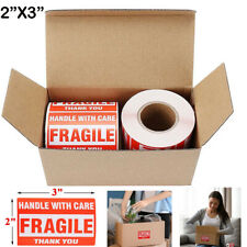 2 Rolls 2 X 3 Fragile Handle With Care Thank You Stickers Labels 500 Per Roll