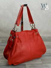 Made in Italy Shopper Schulter Tasche Damen Shoulder Bag ROT echt Leder 608RR
