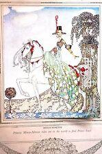 Kay Nielsen 1913 PRINCESS MINON MINETTE on WHITE HORSE  Art Nouveau Print Matted