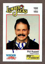 1994-95 Cleveland Lumber Jacks Head Coach Phil Russell Autographed Card