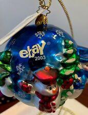 Rare Christopher Radko Ebay commemorative Ornament 2003= Numbered w/ certif. Nib
