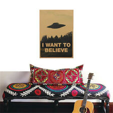 I Want To Believe - The X Files TV Series Poster Print UFO Home Wall Stickers