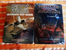 2X LOT DVD SEALED NEW Heroes of Aviation,& SKY WARS 10 Disc Set, Collectors Tin