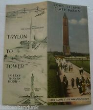 "Rare Travel Brochure For Long Island State Parks ""Trylon To The Tower"" 1939"