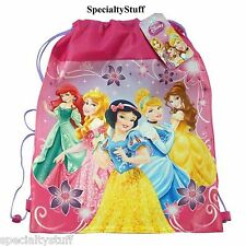 "NEW DISNEY PRINCESS NON WOVEN SLING BAG 14""x11"" PRINCESSES"