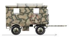 CMK 1/35 Sd.Anh.473 German Multipurpose Field Caravan w/Wooden Cabin WWII RA047