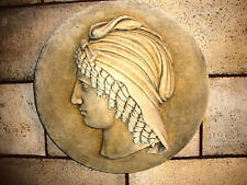 Cleopatra Queen of Egypt wall relief stone sculpture