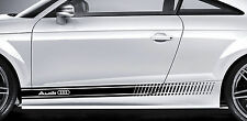 Audi Premium Latéral Bandes Autocollant TT RS S3 S4 A3 A4 A5 A6 Quattro S-line