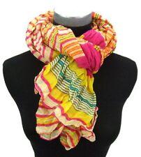 Écharpes et châles multicolores avec des motifs Rayé pour femme