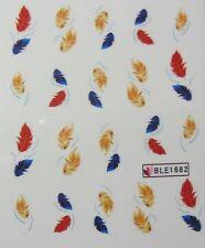 Nail art stickers décalcomanie bijoux d'ongles mode: plumes couleurs d'automne