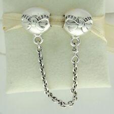 Authentic Pandora 791780CZ-05 Dainty Bow Safety Chain Silv Christmas Bead Charm