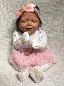 "reborn baby doll girl full body silicone 20"""