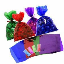Cellophane Bags 100 pcs Mix Colors (6 Inch x 9 Inch) | Colorful Cello Treat B.