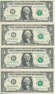 2017 (Erh. I) 2013,2017(3x) ; USA  1 Dollar Geldscheine, kassenfrisch
