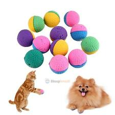 12pcs Pet Funny Colorful Soft Latex Ball Cat Kitten Dog Play Chew Activity Toys
