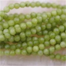 4mm FACETED Green Peridot Round Gems Round loose Bead 15''CH##39