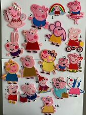 Peppa Pig Iron on Applique Patch DIFFERENT STYLES