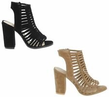 Block Heel Suede Strappy Sandals & Beach Shoes for Women