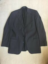 BARNEYS NEW YORK Solid Charcoal Gray Wool mens suit 42L nice!!