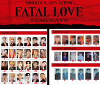 MONSTAX MONSTA X 3rd Album Fatal Love Offcial Photocard Photo Card Genuine KPOP