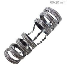 1.9Ct Diamond Sterling Silver Full Finger Slave Designer Ring Fashion Jewelry QY