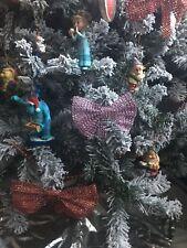 Rosa Diamante Cristal Bling arcos Navidad árbol de Navidad Decoración x 6