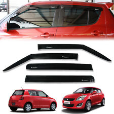 RAIN VISOR WEATHER GUARD WIND SHIELD GLOSS BLACK FIT FIT SUZUKI SWIFT 2012-2017