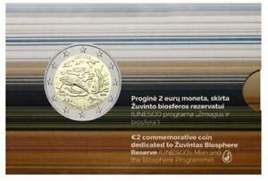 2021 Lithuania Zuvintas Biosphere Reserve UNESCO 2 euro BU coin