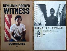 BENJAMIN BOOKER Witness | S/T Ltd Ed RARE 2 Posters Lot +FREE Indie Rock Poster