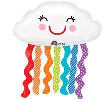 "XL 30""  Anagram Rainbow Cloud Super Shape Mylar Foil Balloon Birthday Party"