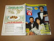 ONDA TV GIUGNO 1991 MARCHESINI SOLENGHI LOPEZ DEPARDIEU