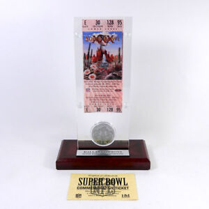 Highland Mint Super Bowl XXX  Replica Ticket with Steel Coin