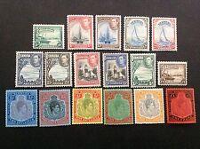 BERMUDA 1938-52 KGVI COMPLETE SET 1/2d-£1 (17) MNH/MLH OG CV$400