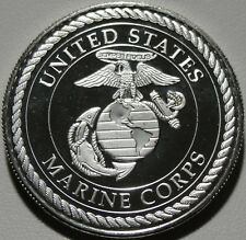 US Navy and US Marines Silver Round, 1 oz, .999 Silver Round, Bullion, #9448