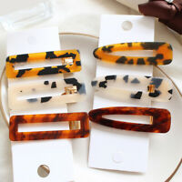 Girls Geometric Leopard Hairpin Hair Clips Vintage BB Clips Barrettes Headwear B