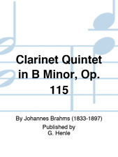 Clarinet Quintet in B Minor, Op. 115 for Clarinet, 2 Violins, Viola, and Cello S